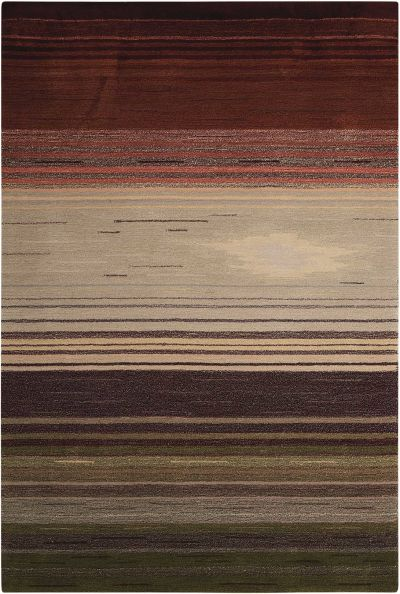 Nourison Contour Striped Forest 5'0″ x 7'6″ CON15FRST5X8