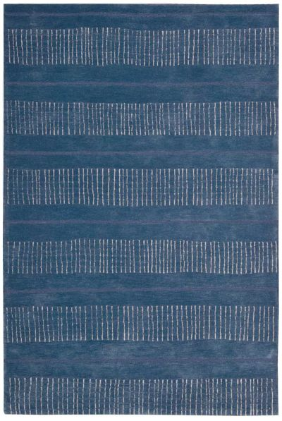 Nourison Contour Striped Denim 5'0″ x 7'6″ CON22DNM5X8