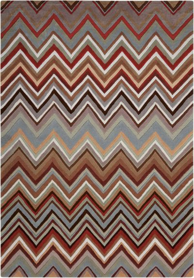 Nourison Contour Modern/Contemporary, Multicolor 5'0″ x 7'6″ CON23MLTCLR5X8