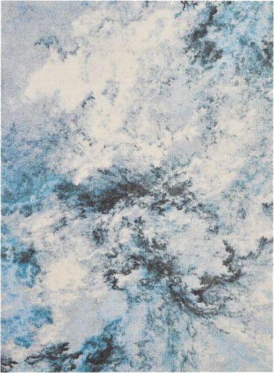 Nourison Corsica Shag Blue Multicolor 5'0″ x 7'0″ CRC04BLMLTCLR5X8
