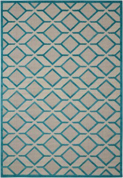 "Nourison Aloha Contemporary Blue 7'10"" x 10'6″ ALH03BL8X11"