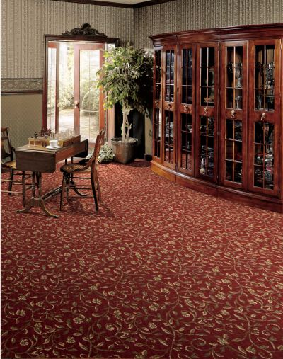 Luxe Pointe Nourison  Luxe Scroll Lp04 Black Broadloom RED 1-LP06REDBR1302WV