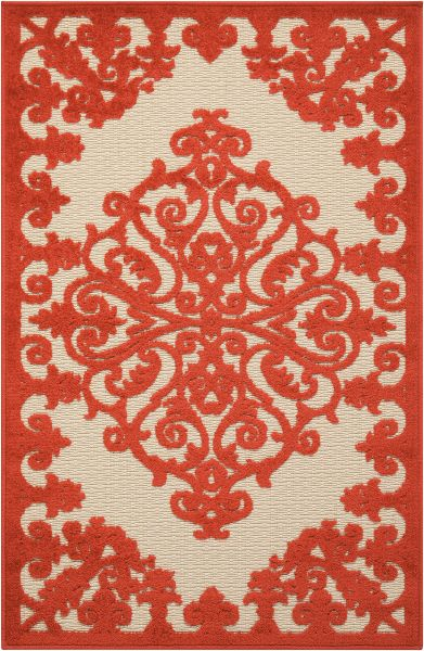 Nourison Aloha Transitional Red 2'8″ x 4'0″ ALH12RD3X4