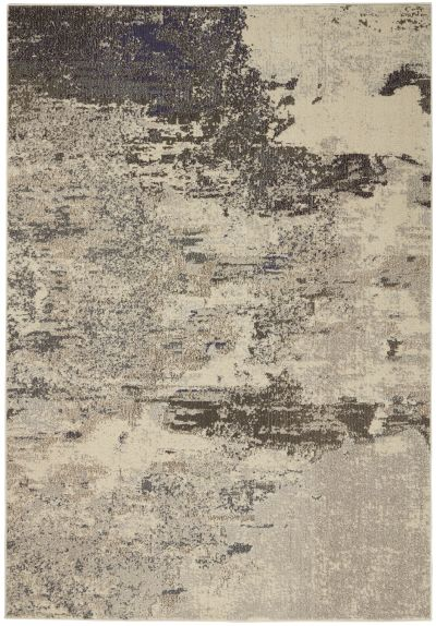 Nourison Celestial Ivory/Grey 5'3″ x 7'3″ CES02VRYGRY5X7