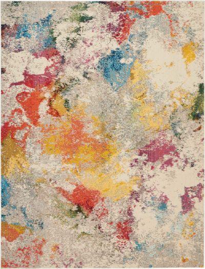 """Nourison Celestial Ivory/Multicolor 7'10"""" x 10'6″ CES12VRYMLTCLR8X11"""