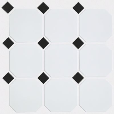 Shaw Floors Ceramic Solutions Elegance 4×4 W/Dot/Mosaic White/Black 00190_CS00Z