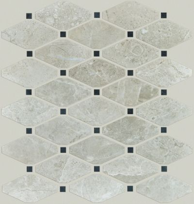 Shaw Floors Ceramic Solutions Rio Diamond Mosaic Ritz Grey 00500_CS02Z