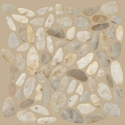 Shaw Floors Ceramic Solutions Pebble Sliced Pearl White 00100_CS13L