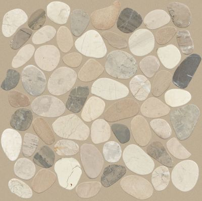 Shaw Floors Ceramic Solutions Pebble Sliced Harmony Warm Blend 00125_CS13L