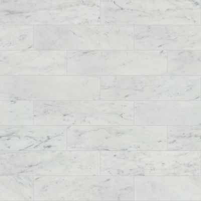 Shaw Floors Ceramic Solutions Chateau 4×16 Bianco Carrara 00150_CS21Z