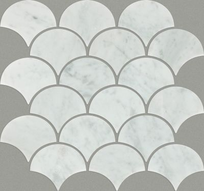 Shaw Floors Ceramic Solutions Chateau Fan Mo Bianco Carrara 00150_CS22X
