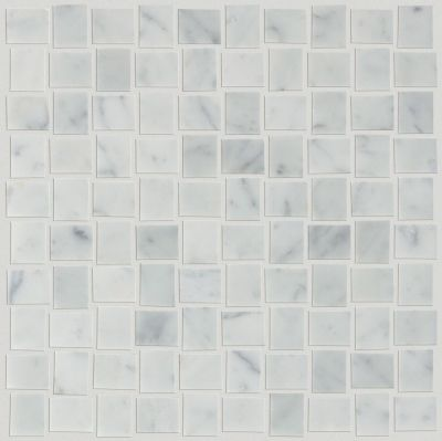 Shaw Floors Ceramic Solutions Chateau Basketweave Mosaic Bianco Carrara 00150_CS22Z