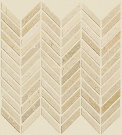 Shaw Floors Ceramic Solutions Chateau Chevron Mosaic Crema Marfil 00200_CS23Z