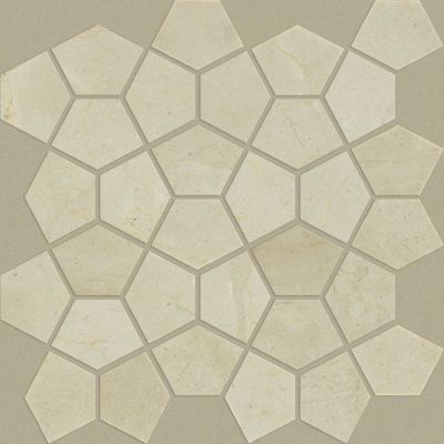 Shaw Floors Ceramic Solutions Chateau Pentagon Mosaic Crema Marfil 00200_CS24X