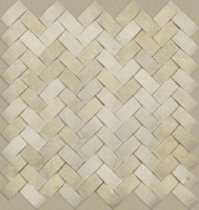 Shaw Floors Ceramic Solutions Chateau Woven Mosaic Crema Marfil 00200_CS25X