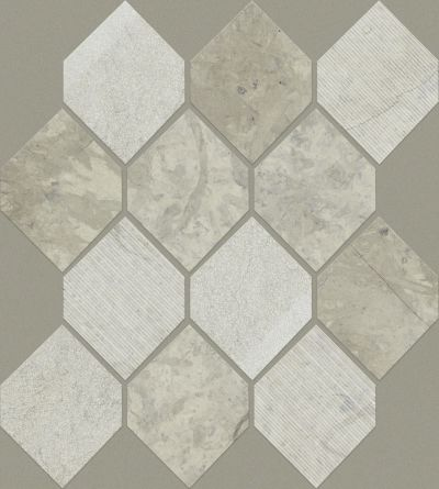 Shaw Floors Ceramic Solutions Boca Stretch Hex Thala Gray 00510_CS26X