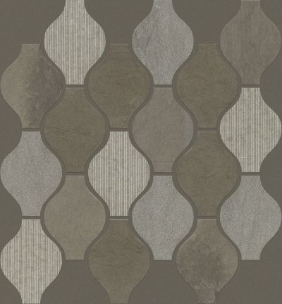 Shaw Floors Ceramic Solutions Boca Ornament Foussana Gray 00530_CS27X