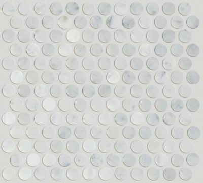 Shaw Floors Ceramic Solutions Chateau Penny Round Mosaic Bianco Carrara 00150_CS29Z
