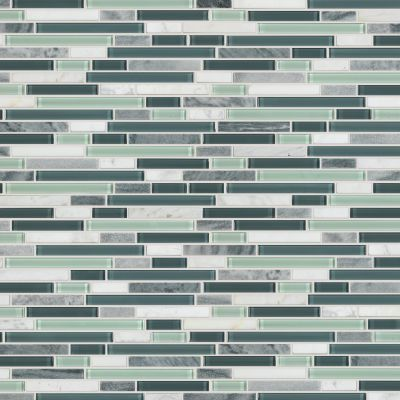 Shaw Floors Ceramic Solutions Awesome Mix Random Linear Mosa Waterfall 00154_CS35X