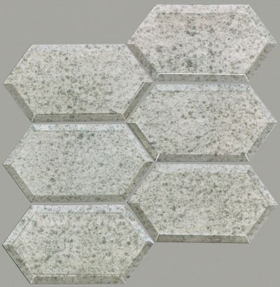 Shaw Floors Ceramic Solutions Lucerne Hex Beveled Mosaic Antique Silver 00500_CS36Z