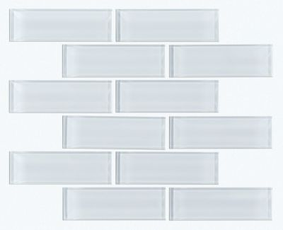 Shaw Floors Ceramic Solutions Cardinal Subway Glass Mosaic Ice 00100_CS37Z