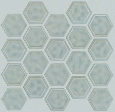 Shaw Floors Ceramic Solutions Geoscapes Hexagon Light Grey 00500_CS50V