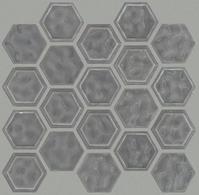 Shaw Floors Ceramic Solutions Geoscapes Hexagon Dark Gray 00550_CS50V