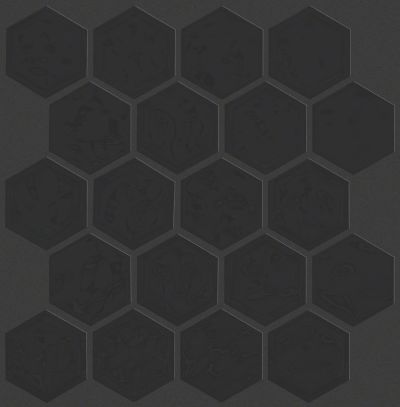 Shaw Floors Ceramic Solutions Geoscapes Hexagon Black 00555_CS50V
