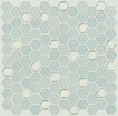 Shaw Floors Ceramic Solutions Molten Hexagon Glass Platinum 00150_CS52V