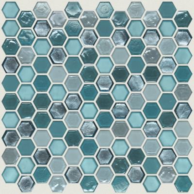 Shaw Floors Ceramic Solutions Molten Hexagon Glass Hydra 00460_CS52V