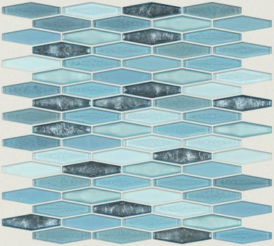 Shaw Floors Ceramic Solutions Molten Stretch Hexagon Glass Santorini 00400_CS54V