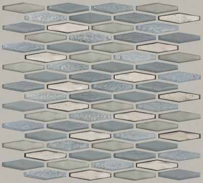 Shaw Floors Ceramic Solutions Molten Stretch Hexagon Glass Pewter 00505_CS54V