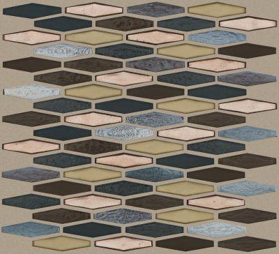 Shaw Floors Ceramic Solutions Molten Stretch Hexagon Glass Bronze 00675_CS54V