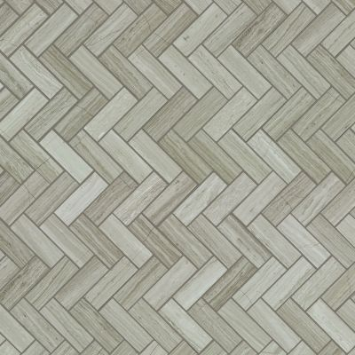 Shaw Floors Ceramic Solutions Chateau Herringbone Mosaic Rockwood 00500_CS57P