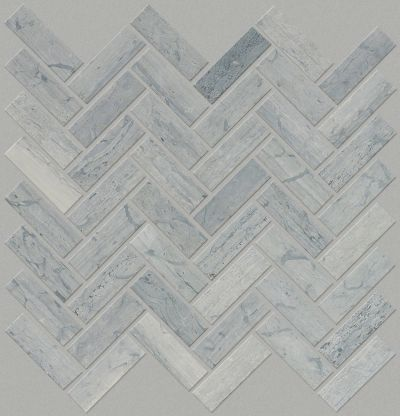 Shaw Floors Ceramic Solutions Chateau Herringbone Mosaic Blue Grigio 00550_CS57P