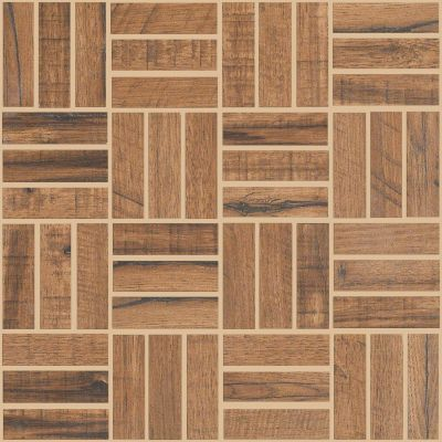 Shaw Floors Ceramic Solutions Fired Hickory Mosaic Nutmeg 00670_CS57Q
