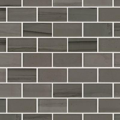 Shaw Floors Ceramic Solutions Chateau 2×4 Beveled Edge Mosai Urban Grey 00570_CS58P