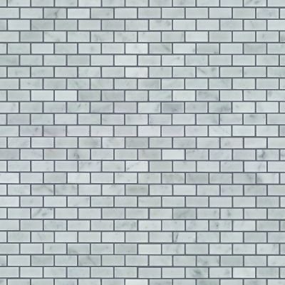 Shaw Floors Ceramic Solutions Chateau Mini Brick Mosaic Bianco Carrara 00150_CS59P