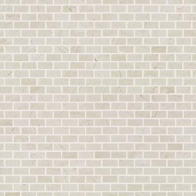 Shaw Floors Ceramic Solutions Chateau Mini Brick Mosaic Crema Marfil 00200_CS59P
