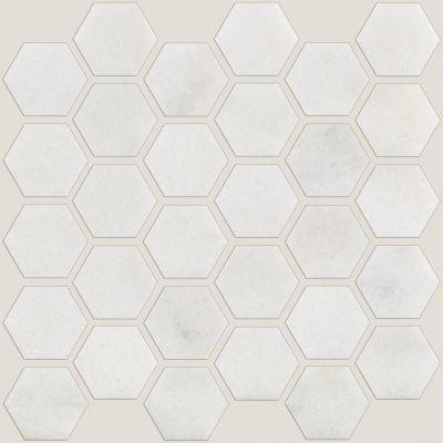 Shaw Floors Ceramic Solutions Boca Hexagon Polished Mosaic Pearl 00101_CS80M
