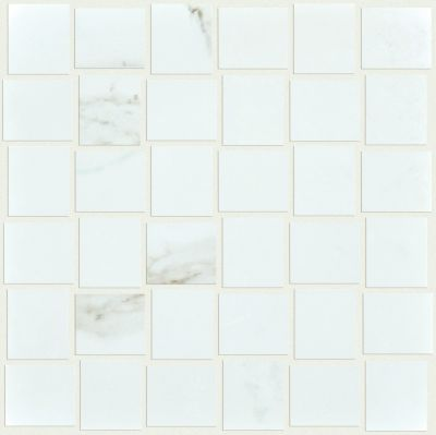 Shaw Floors Ceramic Solutions Casino Bw Mosaic Plsh Calacatta 00121_CS91Z