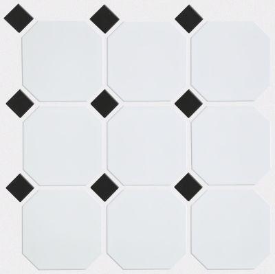 Shaw Floors SFA Dignity 4×4 W/Dot Mosaic White/Black 00190_SA01A