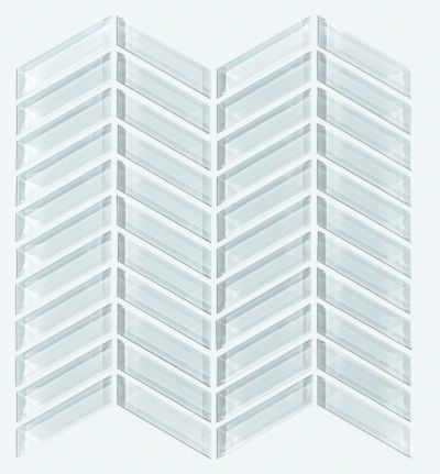 Shaw Floors SFA Paramount Chevron Glass Mosaic Skylight 00150_SA16A