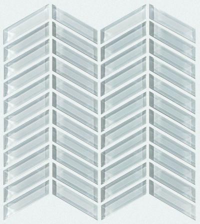 Shaw Floors SFA Paramount Chevron Glass Mosaic Cloud 00500_SA16A