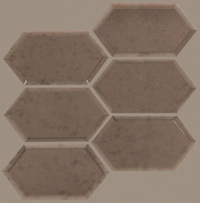 Shaw Floors SFA Vulcan Hex Mosaic Antique Bronze 00600_SA28A