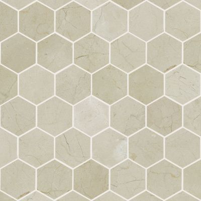 Shaw Floors SFA Pearl Mosaic Hex Crema Marfil 00200_SA33A