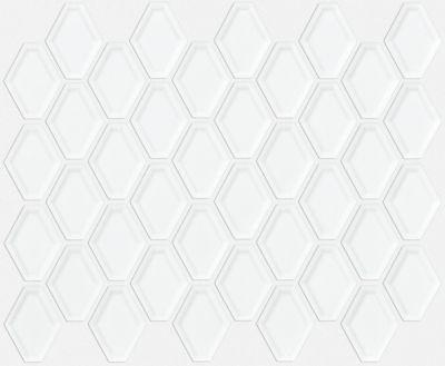 Shaw Floors SFA Dignity Beveled Diamond Mosaic White 00100_SA993