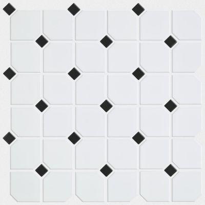 Shaw Floors SFA Dignity 2×2 W/Dot Mosaic White/Black 00190_SA997