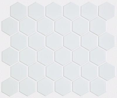 Shaw Floors Home Fn Gold Ceramic Baker Street Hex 2 Mosaics White 00100_TG35B