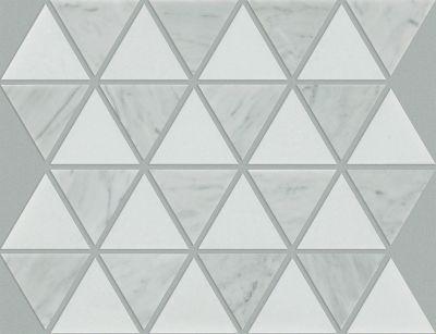 Shaw Floors Home Fn Gold Ceramic Estate Tri Mix Thassos/Bianco Carrara 00151_TG37C